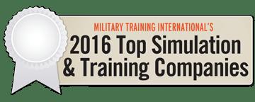 2016 Top Simulation & Training Company Ribbon