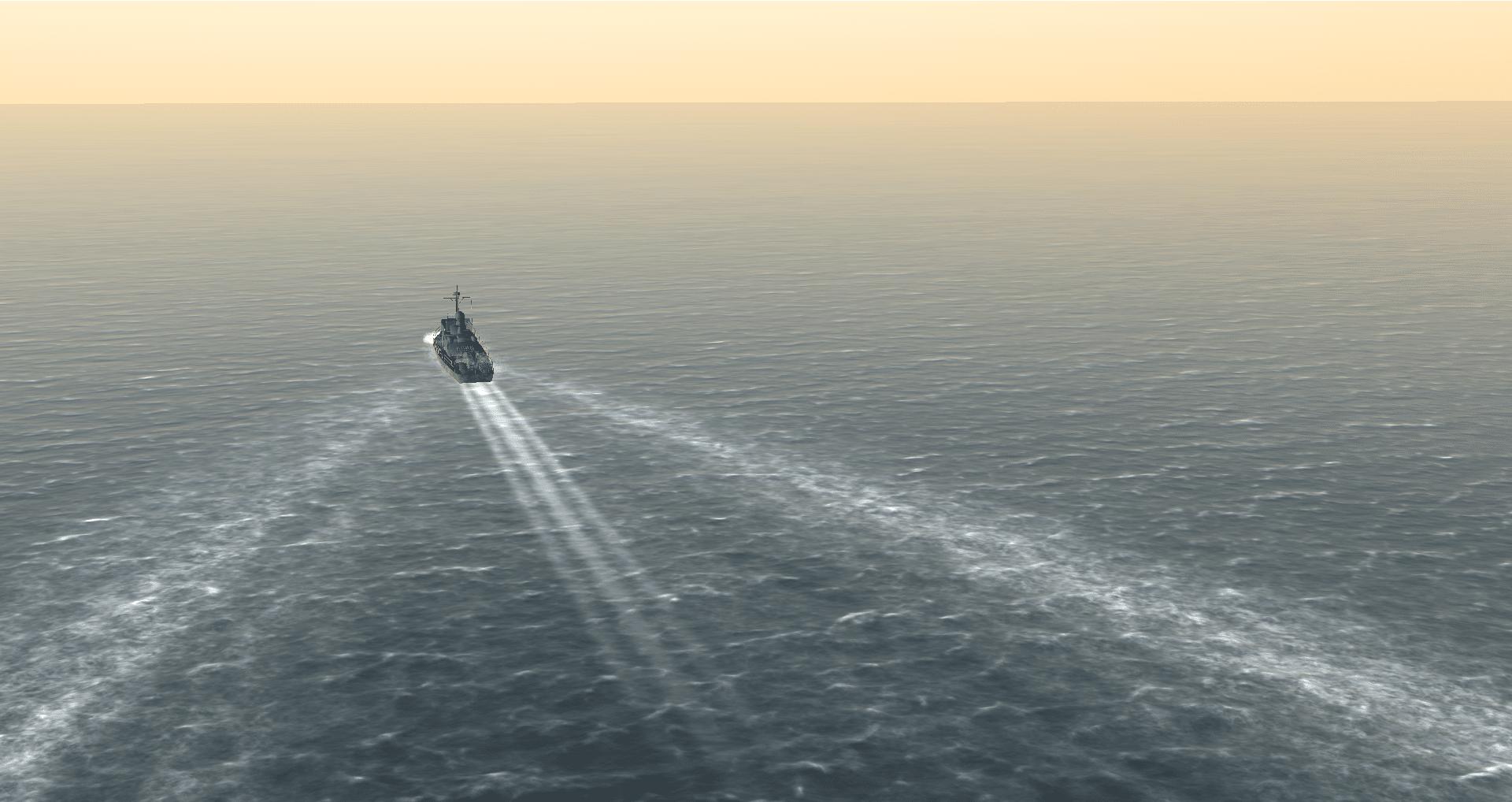 New ship wakes in Triton 3.81
