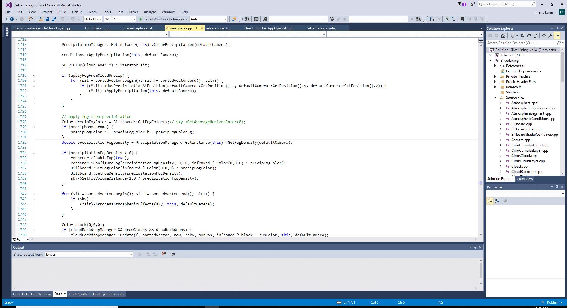 SilverLining code